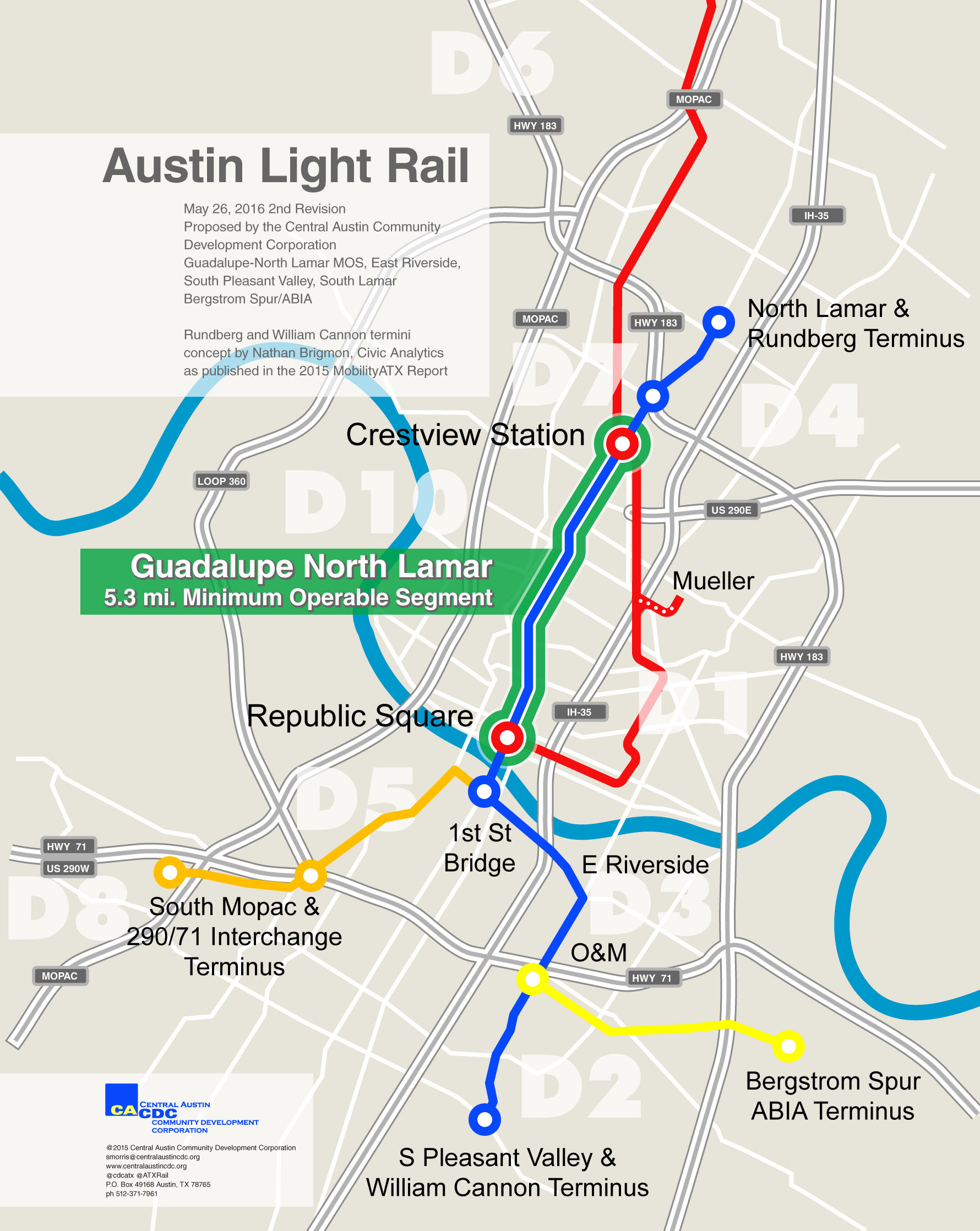 Austin Light Rail Map
